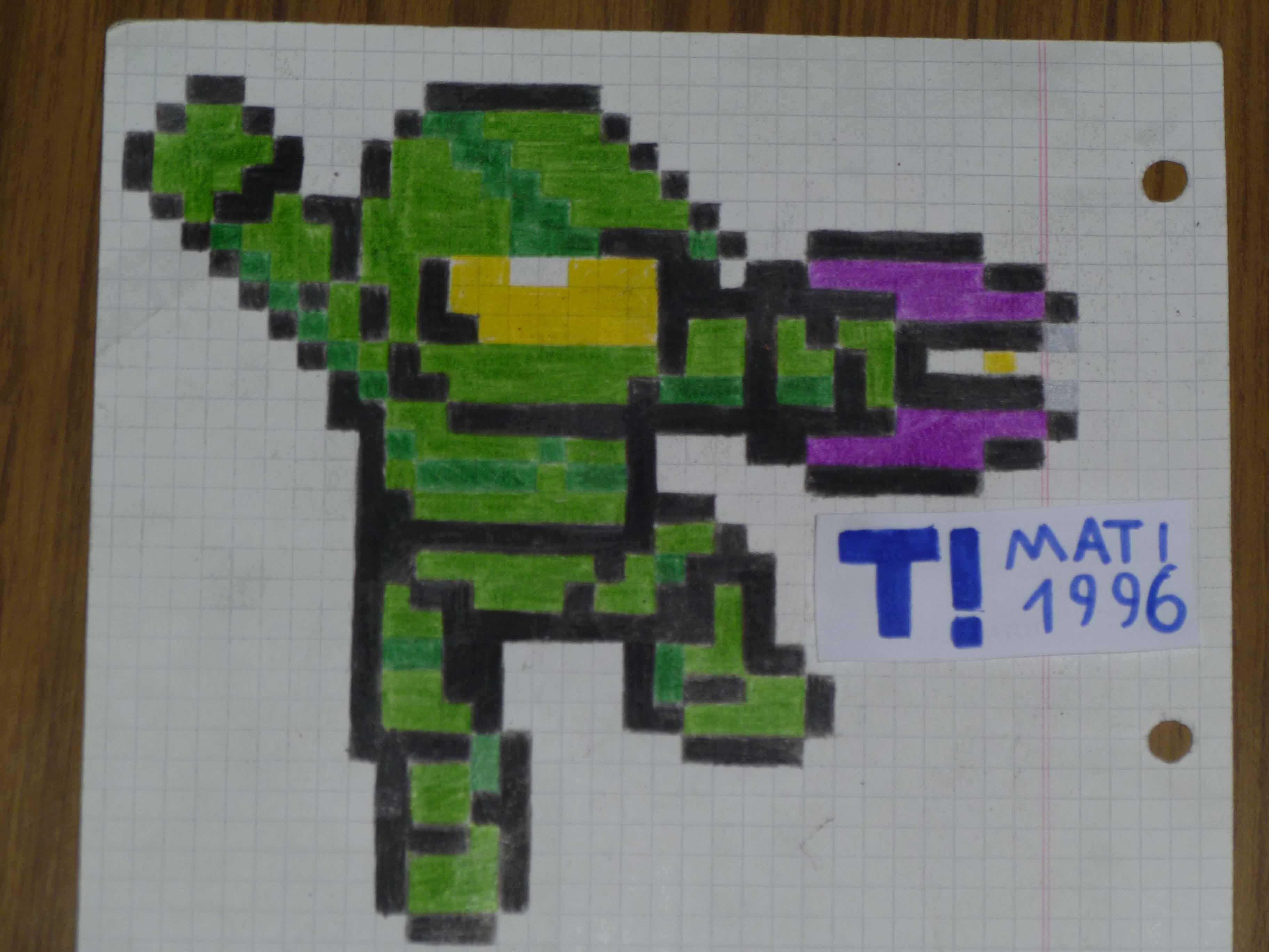 Mi arte Gamer en papel cuadriculado